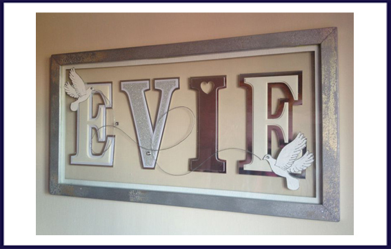 personalised name frame hednesford susan leadbeater 123pixiedust