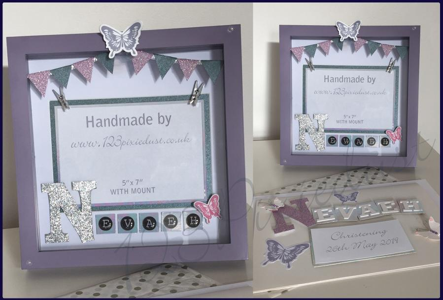 123pixiedust susan leadbetaer designer hednesford box frame cards personalised gifts