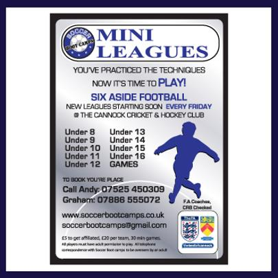 graphic designer hednesford mini leagues