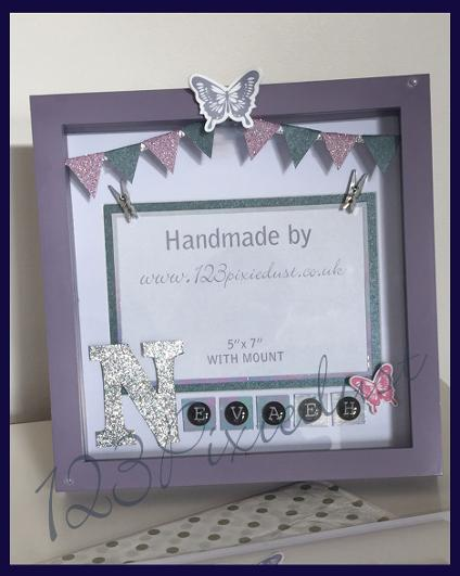 personalised baby box frame 123pixiedust
